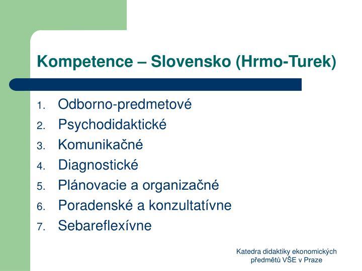 Kompetence – Slovensko (Hrmo-Turek)