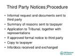 third party notices procedure1