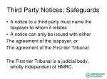 third party notices safeguards
