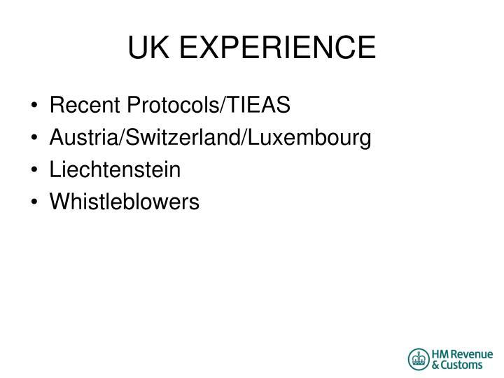 UK EXPERIENCE