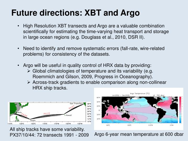 Future directions: XBT and Argo