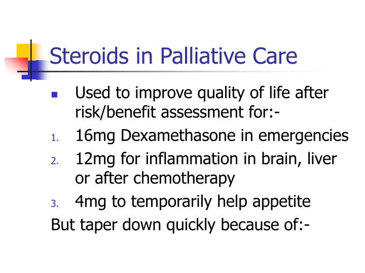 Steroids in Palliative Care