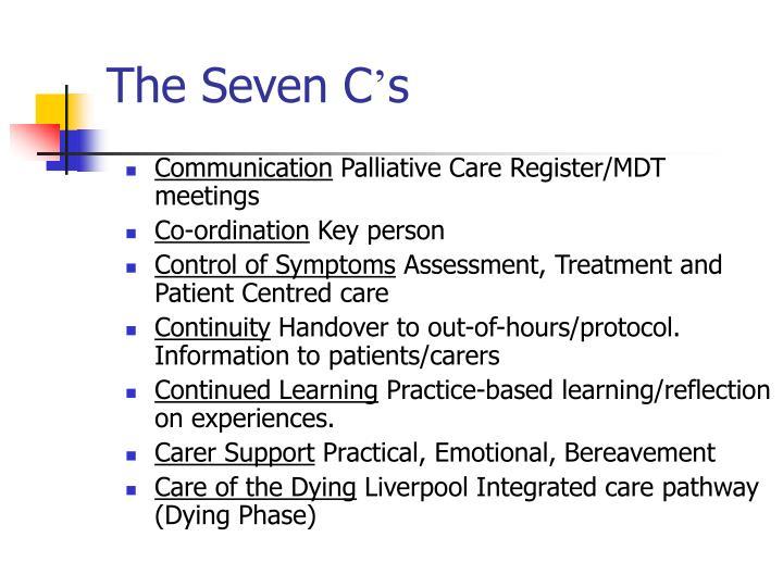 The Seven C