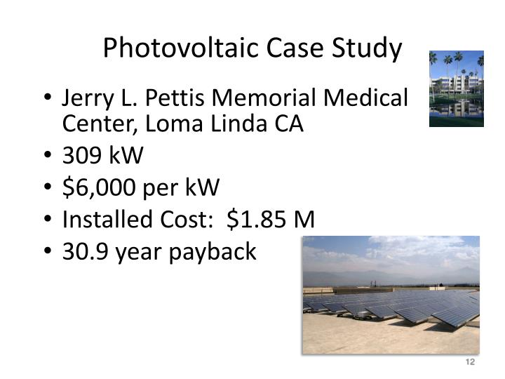 Photovoltaic Case Study