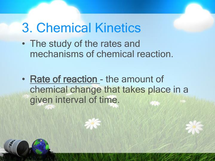 3. Chemical Kinetics