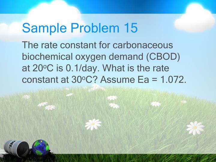 Sample Problem 15