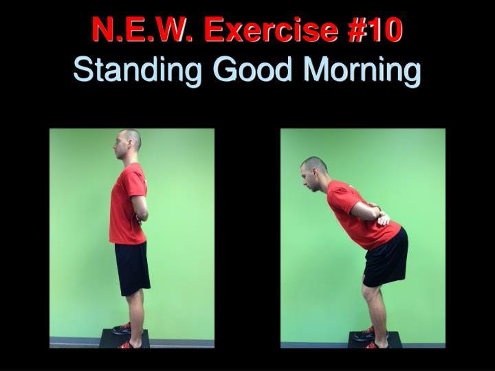 N.E.W. Exercise #10