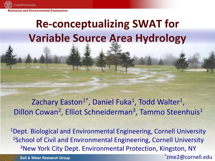 Re conceptualizing swat for variable source area hydrology
