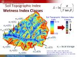 soil topographic index wetness index classes