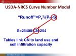 usda nrcs curve number model