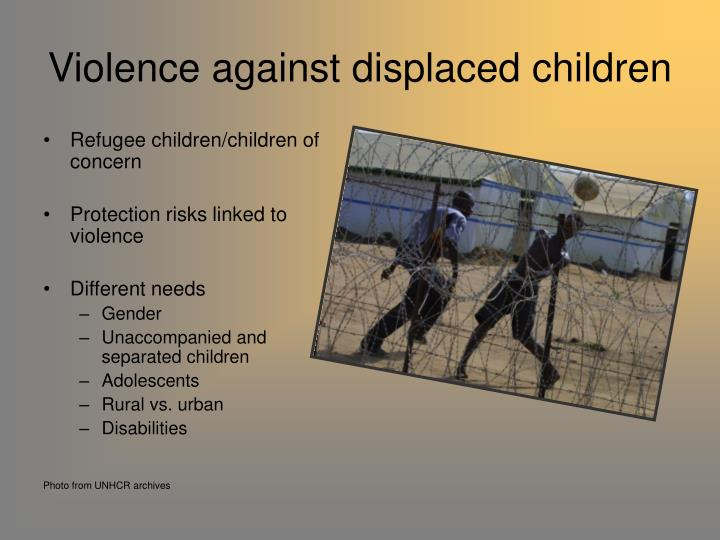 Violence against displaced children