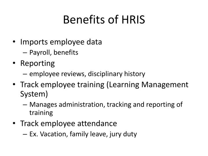 Benefits of hris
