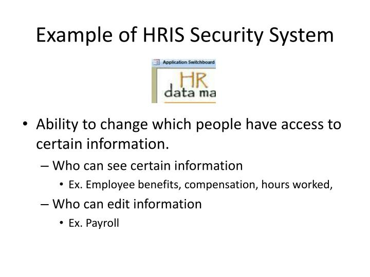 Example of HRIS Security System