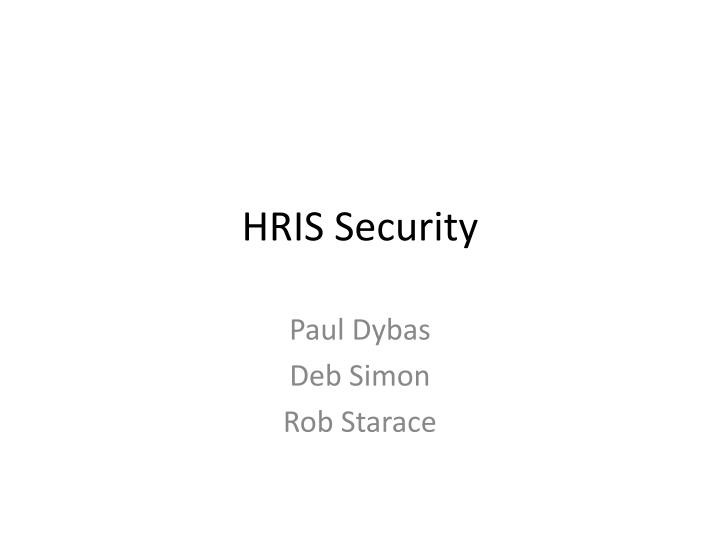 Hris security