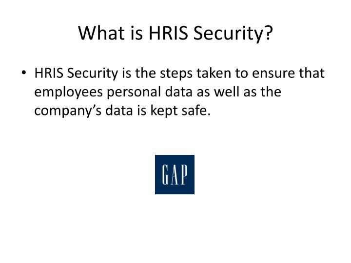 What is HRIS Security?