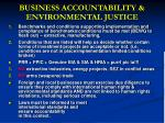 business accountability environmental justice