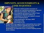 impunity accountability link to justice