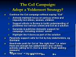 the coi campaign adopt a voldemort strategy