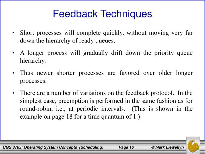 Short processes will complete quickly, without moving very far down the hierarchy of ready queues.