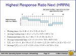 highest response ratio next hrrn2