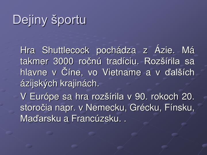 Dejiny športu