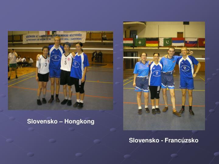 Slovensko – Hongkong