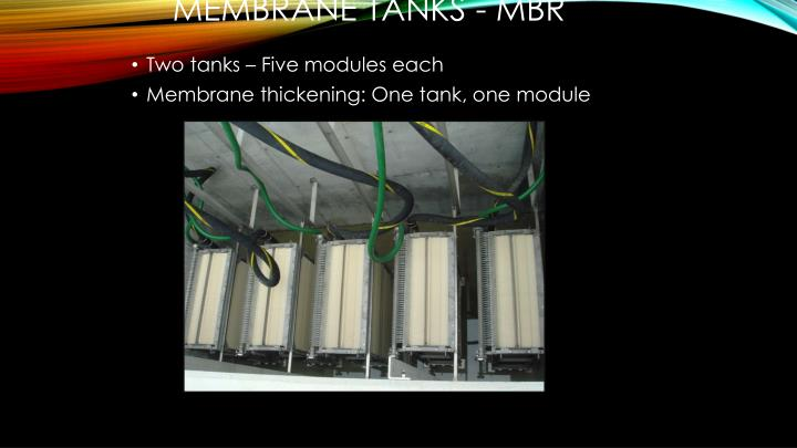 Membrane Tanks - MBR