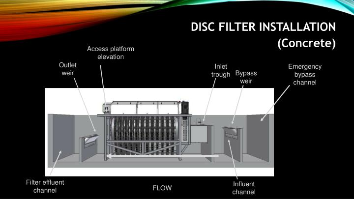 DISC FILTER INSTALLATION