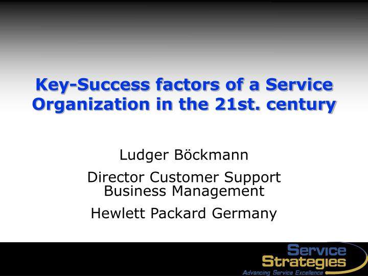 hewlett packard hp key success factors