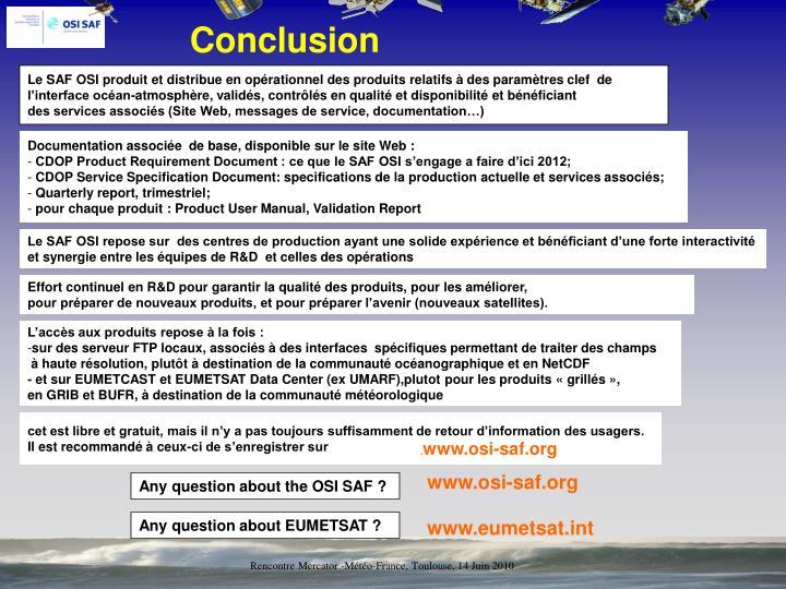 Rencontre Mercator -Météo-France, Toulouse, 14 Juin 2010