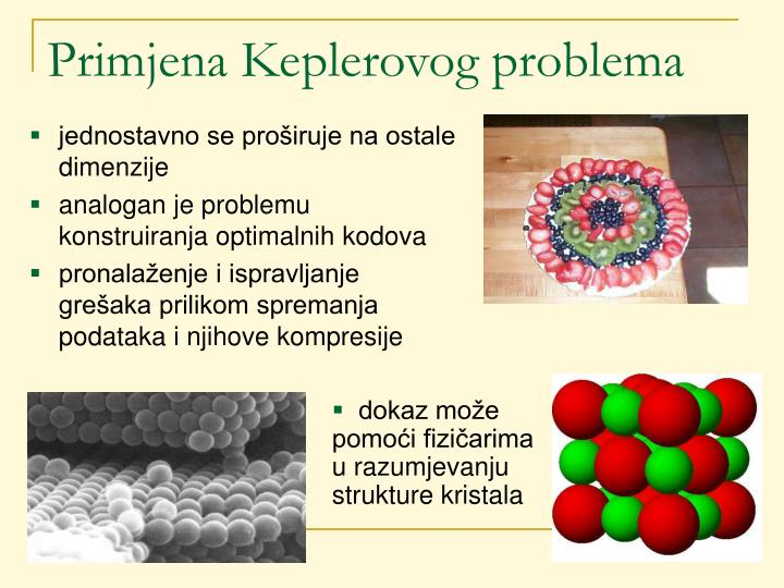 Primjena Keplerovog problema