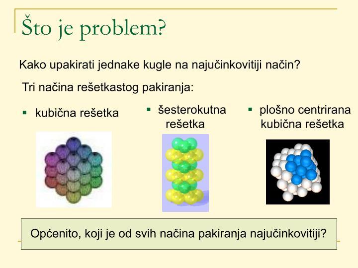 Što je problem?