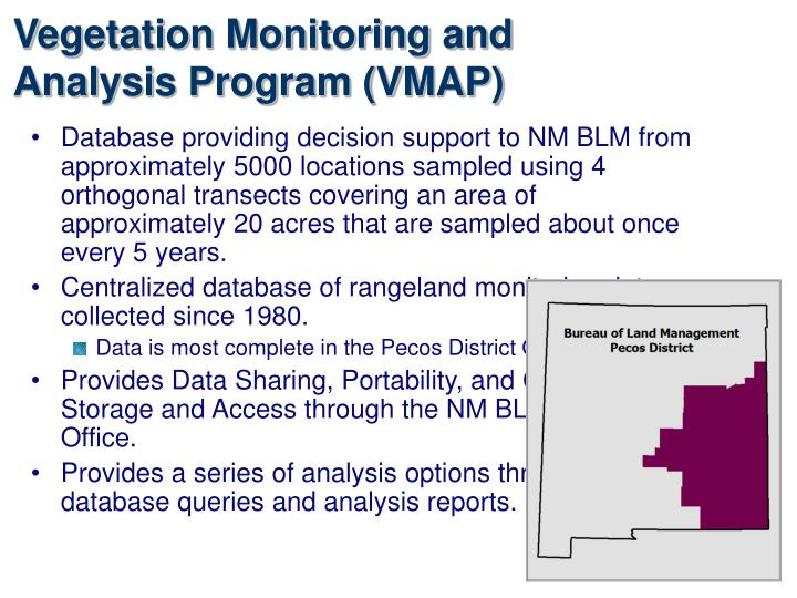 Vegetation Monitoring and Analysis Program (VMAP)
