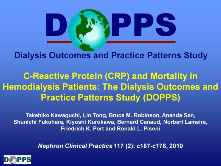 C-Reactive Protein (CRP) and Mortality in