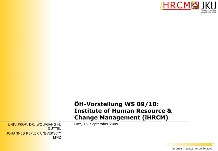 UNIV.PROF. DR. WOLFGANG H. GÜTTEL