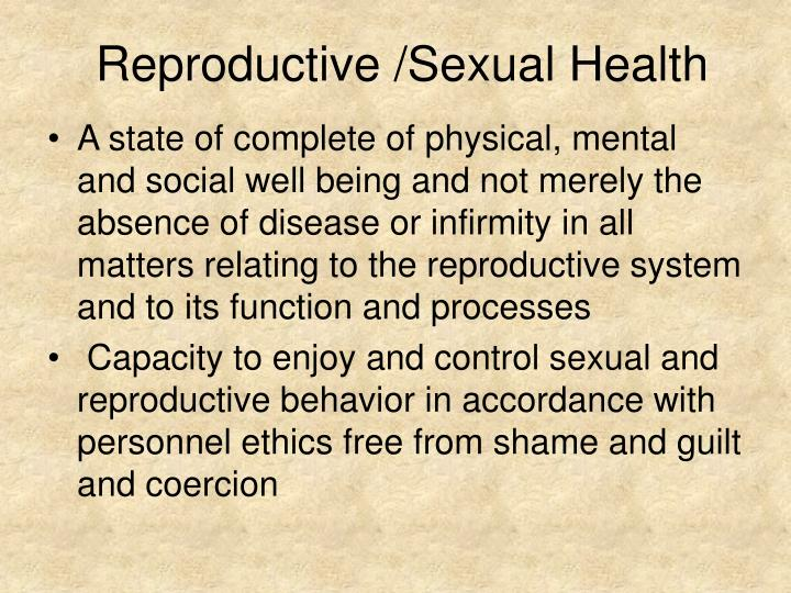 Reproductive /Sexual Health