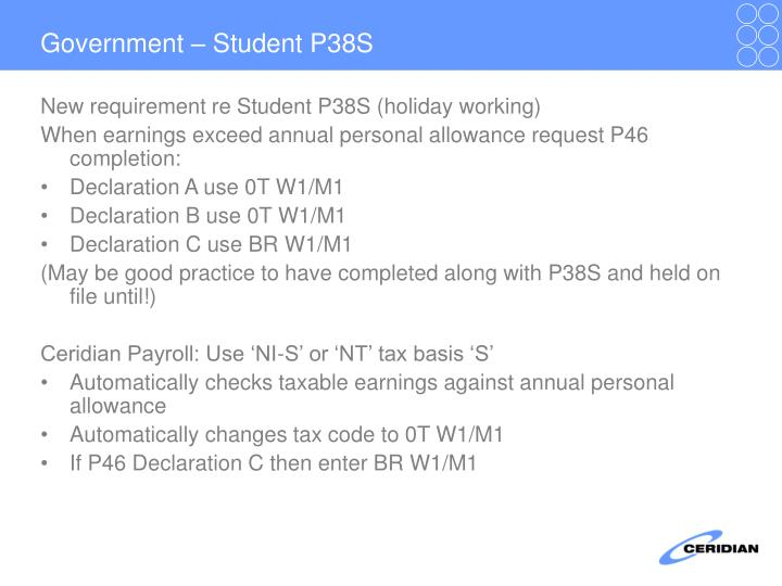 Government – Student P38S