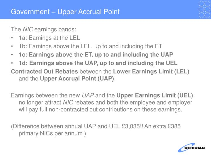 Government – Upper Accrual Point