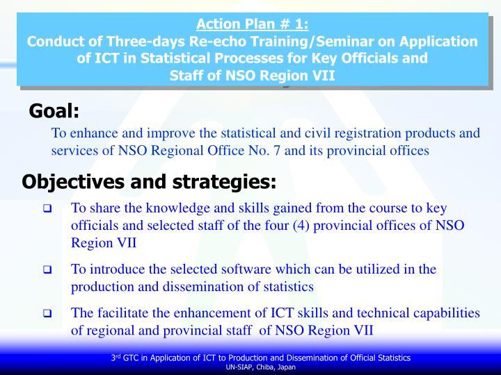 Action Plan # 1: