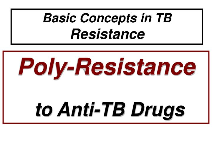 Basic Concepts in TB
