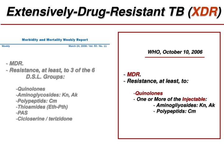 Extensively-Drug-Resistant TB (