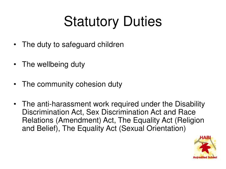 Statutory Duties