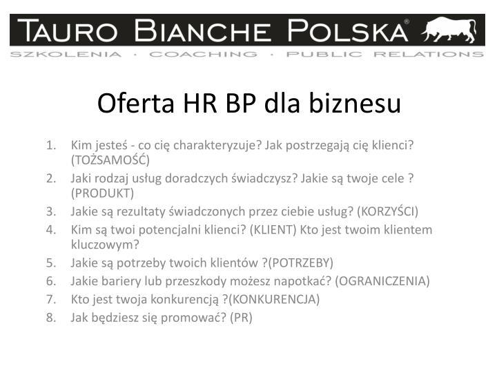Oferta HR BP dla biznesu