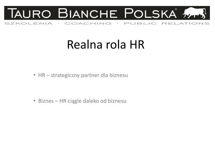 Realna rola HR