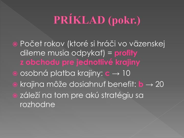 PRÍKLAD (