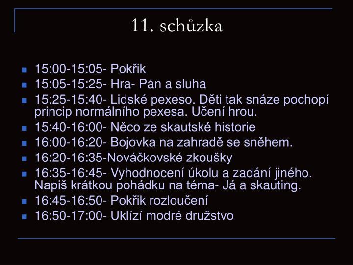 11. schůzka