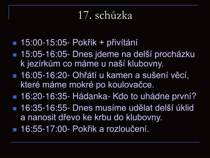 17. schůzka