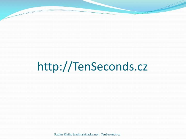 http://TenSeconds.cz