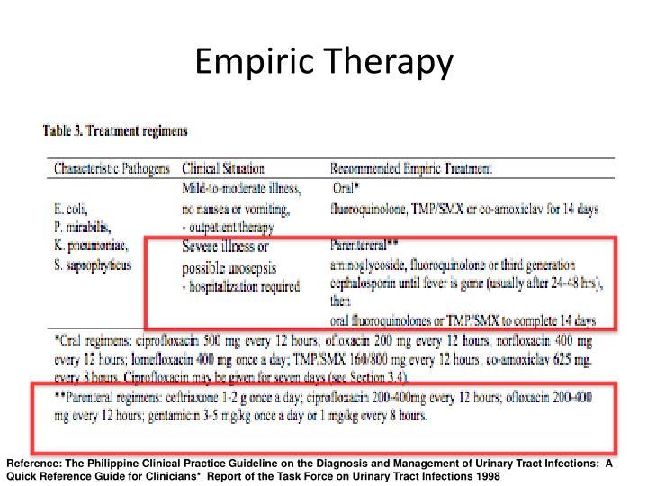 Empiric Therapy