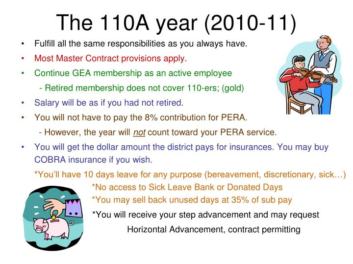 The 110A year (2010-11)